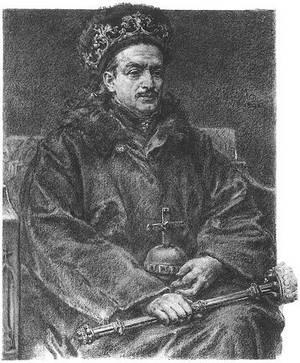 Казімір Ягелончык, малюнак Я. Матэйкі