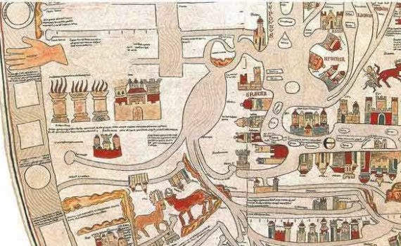 Эбсторфская карта. Фрагмент