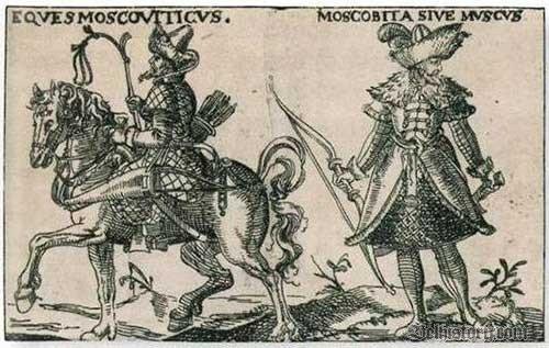 Маскавіты. Гравюра 1605 г.