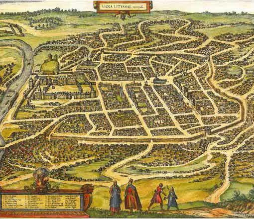 План Вільні. 1581 г.