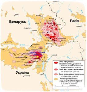 Чарнобыль карта