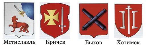 гербы Могилевской области